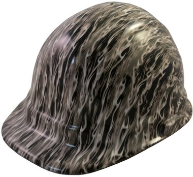 White Flame Hydro Dipped Hard Hats Cap Style