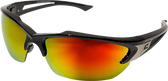 Edge Khor Safety Glasses ~ Aqua Precision Red Mirror Lens