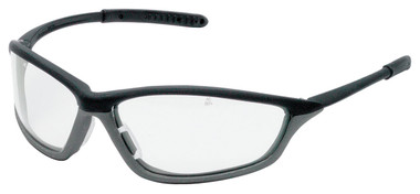 Crews Shock Safety Glasses ~ Onyx Frame with Fog Free Clear Lens
