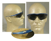 Crews Tremor Glasses ~ Indigo Blue Frame ~ Smoke Lens