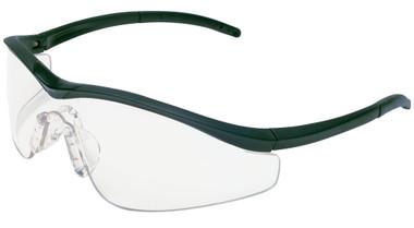 Crews Triwear Series Professional Grade ~ Onyx Frame With Black Cord ~ Clear Anti-Fog Lens