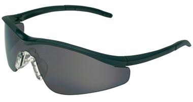 Crews Triwear Series Professional Grade ~ Onyx Frame With Black Cord ~ Grey Anti-Fog Lens