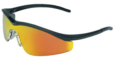 Crews Triwear Series Professional Grade ~ Onyx Frame With Black Cord ~ Fire Mirror Lens