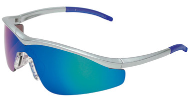 Crews Triwear Series Professional Grade ~ Steel Frame With Silver Cord ~ Emerald Mirror Lens