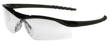 Crews Dallas Safety Glasses ~ Black Frame ~ Fog Free Clear Lens