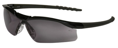 Crews Dallas Safety Glasses ~ Black Frame ~ Fog Free Smoke Lens