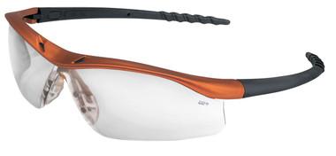 Crews Dallas Safety Glasses ~ Orange Frame ~ Fog Free Clear Lens