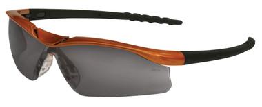 Crews Dallas Safety Glasses ~ Orange Frame ~ Fog Free Smoke Lens