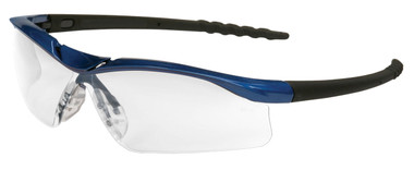Crews Dallas Safety Glasses ~ Blue Frame ~ Fog Free Clear lens