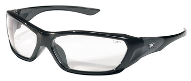 Crews Force Flex Safety Glasses ~ Black Frame - Clear Lens