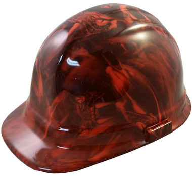 Venom Snake Orange Hydro Dipped Hard Hats Cap Style