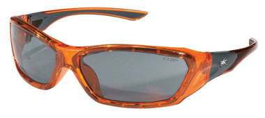 Crews Force Flex Safety Glasses ~ Black Frame - Blue Diamond Lens