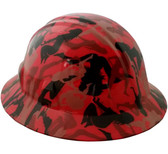 Camo Bootie Red Hydro Dipped Hard Hats Full Brim Style
