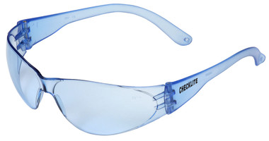 Crews Checklite Safety Glasses ~ Light Blue Lens/Light Blue Temples