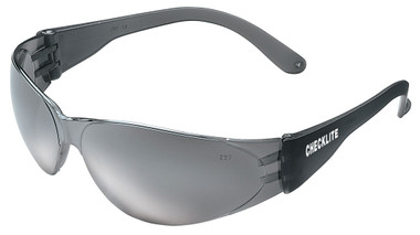 Crews Checklite Safety Glasses ~ Silver Mirror Lens/Grey Temples