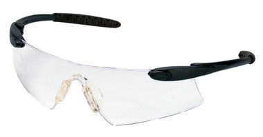 Crews Desperado Safety Glasses ~ Black Frame - Fog Free Clear Lens