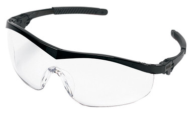 Crews Storm Safety Glasses ~ Black Frame and Clear Lens