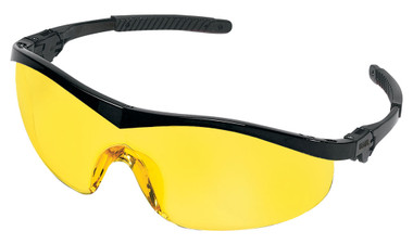 Crews Storm Safety Glasses ~ Black Frame and Amber Lens