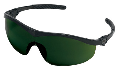 Crews Storm Safety Glasses ~ Black Frame and 5.0 Lens