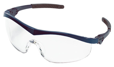 Crews Storm Safety Glasses ~ Blue Frame and Clear Lens