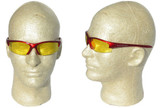 Smith and Wesson ~ Equalizer Glasses ~ Red Frame, Amber Lens