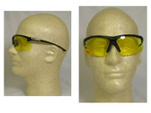 Olympic Optical 30.06 Reading Glasses ~ Black Frame, Amber Lens and 2.5 power
