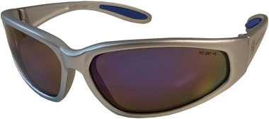 Smith and Wesson ~ 38 Specials ~ Silver Frame Blue Mirror Lens Oblique