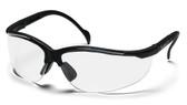 Pyramex Venture II ~ Black Frame ~ Clear Lens
