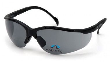 Pyramex Safety Glasses ~ Venture II Readers ~ 1.5 Smoke Lens
