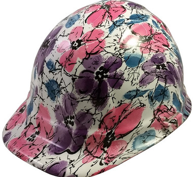 Flower Hydro Dipped Hard Hats Cap Style