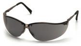 Pyramex Safety Glasses ~ V2 Metal ~ Smoke Lens