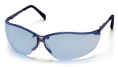 Pyramex Safety Glasses ~ V2 Metal ~ Infinity Blue Lens