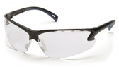 Pyramex Safety Glasses ~ VENTURE III ~ Black Frame ~ Clear Lens