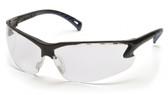 Pyramex Safety Glasses ~ VENTURE III ~ Black Frame ~ Fog Free Clear Lens