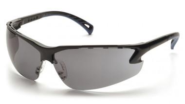 Pyramex Safety Glasses ~ VENTURE III ~ Black Frame ~ Smoke Lens