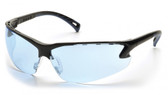 Pyramex Safety Glasses ~ VENTURE III ~ Black Frame ~ Infinity Blue Lens