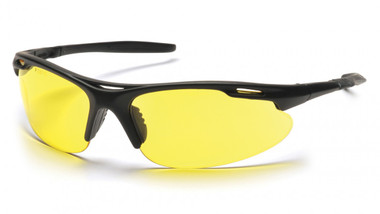 Pyramex Avante Safety Glasses ~ Black Frame ~ Amber Lens