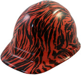 Tiger Orange Hydro Dipped Hard Hats Cap Style