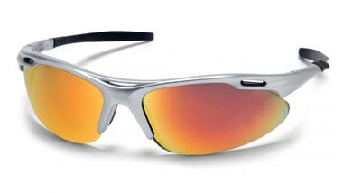 Pyramex Avante Safety Glasses ~ Silver Frame ~ Ice Orange Lens