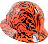 Tiger Orange Hydro Dipped Hard Hats Full Brim Style