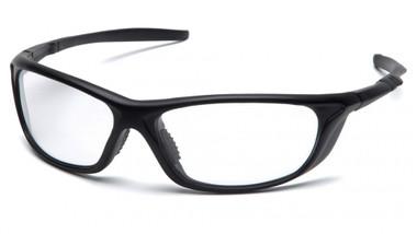 Pyramex Safety Glasses ~ Azera ~ Black Frame ~ Clear Lens