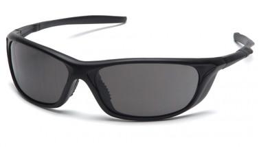 Pyramex Safety Glasses ~ Azera ~ Black Frame ~ Smoke Lens