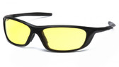 Pyramex Safety Glasses ~ Azera ~ Black Frame ~ Amber Lens