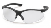 Pyramex Fortress Safety Glasses ~ Black Frame ~ Black Indoor/Outdoor Lens