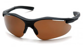 Pyramex Fortress Safety Glasses ~ Black Frame ~ Coffee Lens