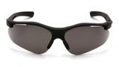 Pyramex Fortress Safety Glasses ~ Black Frame ~ Smoke Lens