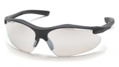 Pyramex Fortress Safety Glasses ~ Black Frame ~ Indoor Outdoor Lens
