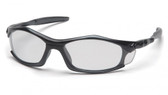 Pyramex Solara Safety Glasses ~ Black Frame ~ Clear Lens