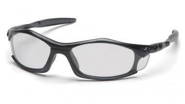Pyramex Solara Safety Glasses ~ Black Frame ~ Clear Lens