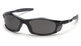 Pyramex Solara Safety Glasses ~ Black Frame ~ Smoke Lens